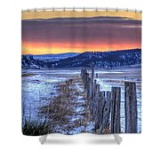 Cold Country Sunrise Shower Curtain