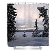 Cold Dawn On Boot Lake Shower Curtain