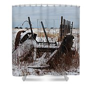 Cold Entanglement Shower Curtain