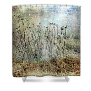 Cold Flowers Shower Curtain