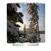 Cold Morning On Boot Lake Shower Curtain