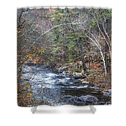 Cold Mountain Stream Shower Curtain