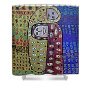Cold Night Camping Shower Curtain