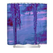 Cold Night Falling Shower Curtain