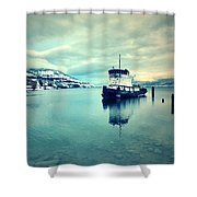 Cold Reflections Shower Curtain