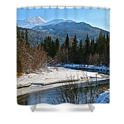 Cold River Bend Shower Curtain