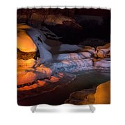 Cold River Candle Shower Curtain