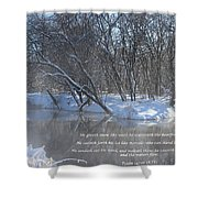 Cold-snow Shower Curtain