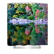 Cold Spring Harbor Reflections Shower Curtain