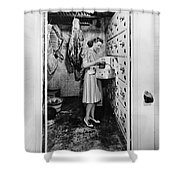 Cold Storage Room, C1940 Shower Curtain