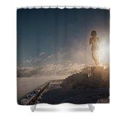 Cold Sunrise Shower Curtain
