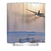 Cold War Warrior Shower Curtain
