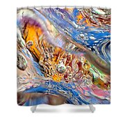Cold Wave Shower Curtain