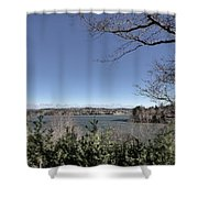 Cold Windy Morning Shower Curtain