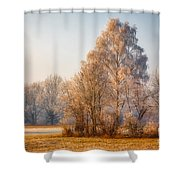 Cold Winter Evening In The Valley Shower Curtain