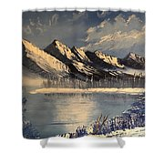 Cold Winter Lake Shower Curtain