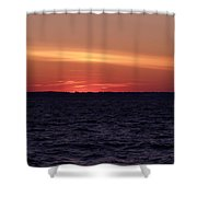 Cold Winter Sunset 1 Shower Curtain