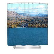 Coldstream Valley In Autumn Shower Curtain