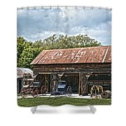 Coldwater Vintage Carriage House Shower Curtain