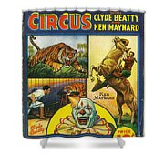 Cole Bros Circus With Clyde Beatty And Ken Maynard Vintage Cover Magazine And Daily Review Shower Curtain