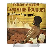 Colgate Cashmere Bouquet Advertising Poster Shower Curtain