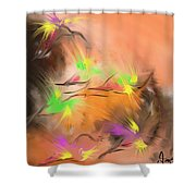 Colibries Shower Curtain