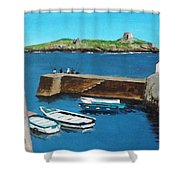 Coliemore Harbour, Dalkey Shower Curtain