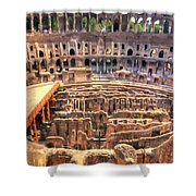 Coliseum In Rome Shower Curtain