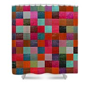 Collage Color Study Fuchsia Shower Curtain
