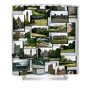 Collage Cornell University Ithaca New York Vertical 02 Shower Curtain