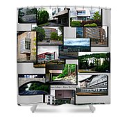 Collage Ithaca College Ithaca New York Vertical Shower Curtain