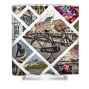 Collage Of Copenhagen  Shower Curtain
