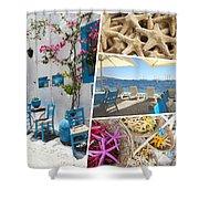 Collage Of Crete  Shower Curtain