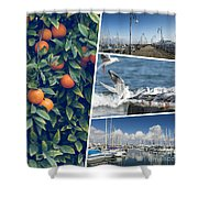 Collage Of Cyprus Images Shower Curtain