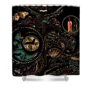 Collage Of Faith And Life Shower Curtain