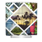 Collage Of Hawaii  Shower Curtain