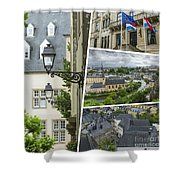 Collage Of Luxembourg Images Shower Curtain