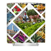 Collage Of Madeira  Shower Curtain