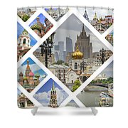 Collage Of Moscow Shower Curtain