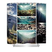 Collage Of Tatra Mountains  Shower Curtain