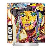 Collage Portrait Shower Curtain by Oprisor Dan