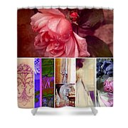 Collage So Rosey Shower Curtain