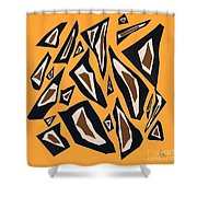 Collage Yellow Black Brown Shower Curtain