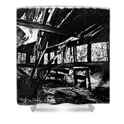 Collapsed Roof Shower Curtain