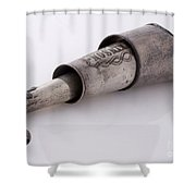 Collapsible Victorian Ear Trumpet, 1800s Shower Curtain