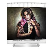 Collared Girl Iv Shower Curtain