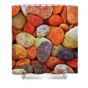 Collecting Pebbles Shower Curtain