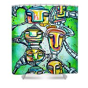 Collective Minds Shower Curtain