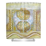 Collective Unconscious Three Equals One Equals Enlightenment Shower Curtain