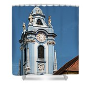 Collegiate Church Blue Tower Shower Curtain